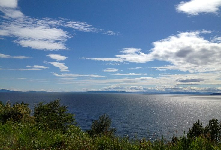 Gaze out at the open ocean waters from Kwomais Point Park in Surrey, BC