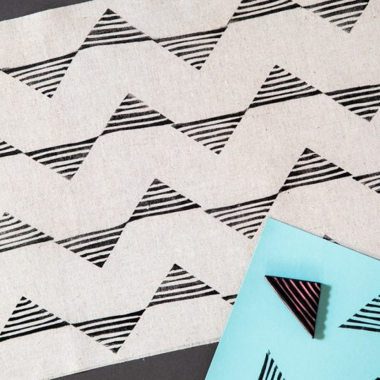 How to Stamp Print Plain Fabric So It Has Some Real Star Power